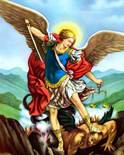 Tradycyjny w katolicyzmie obraz św. Michała pokonującego szatana