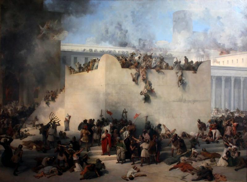 Francesco Hayez - zniszczenie Jerozolimy